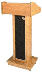 Details of Sound-Craft Lectern II - Natural Oak