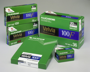 Details of Fujichrome Velvia 100F Propack of 20