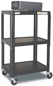 "Details of VUTEC VMFC4226E 26""-42"" Adjustable Height AV Cart"