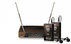 Details of NADY Encore-Duet Dual Receiver (2 Lavalier) VHF Wireless Microphone System