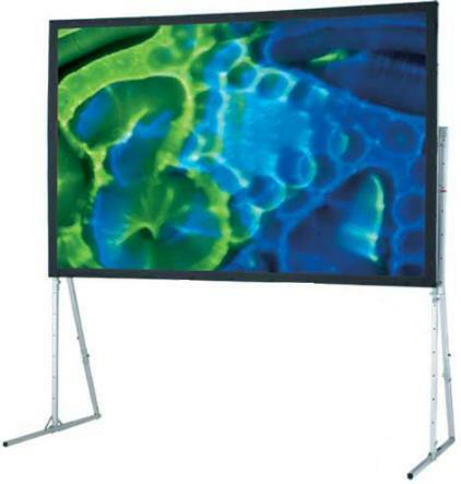 Details of Draper 83 x 144 Ultimate Folding Screen - Matte White with Wheel Case and Heavy Duty Legs