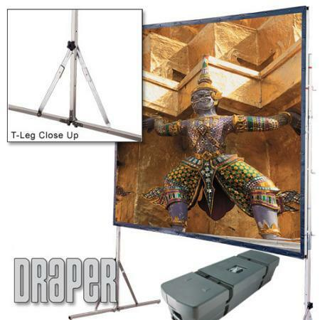 Details of Draper Cinefold 69 x 120 Front Projection Screen Matte White - Standard Legs - HDTV Format