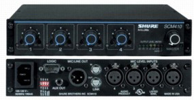 Details of Shure SCM410 Four Channel Automatic Mixer