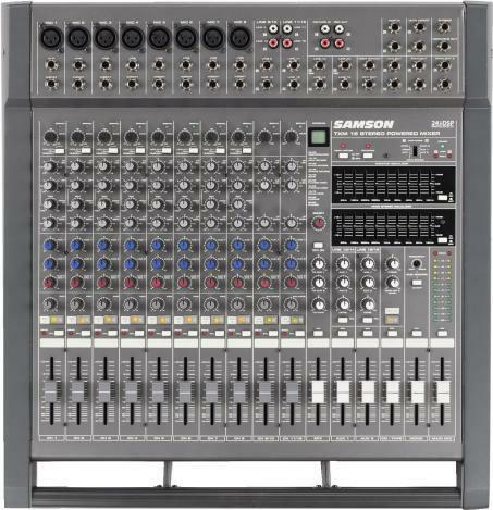 Details of Samson TXM16 - 16 Channel Table Top Powered Audio Mixer