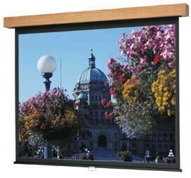"Details of Da-Lite Designer Manual Hamilton 96"" x 96"" Wall Screen - Heritage Walnut - High Power"