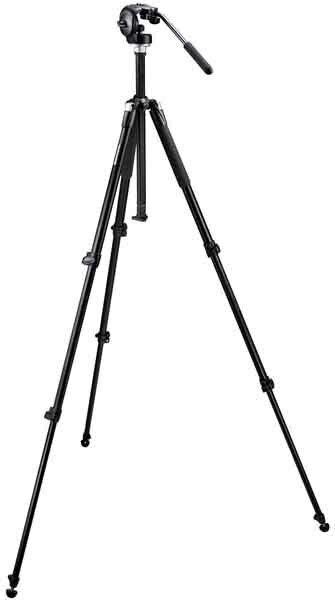 Details of Bogen 055XB Classic Black Tripod and 128RC Micro Fluid Head with 200PL-14 Plate
