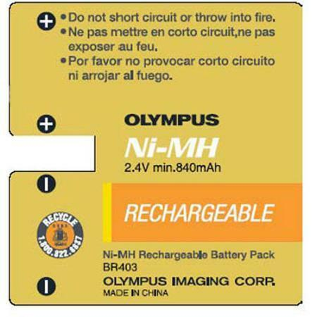 Details of Olympus BR-403 Rechargeable Ni-MH Battery Pack (2.4V 840mAh) for DS-2300, DS-3300, DS-4000 Digital Voice Recorders