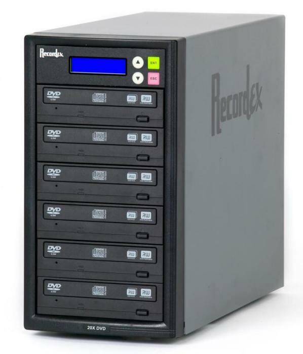 Details of Recordex TechDisc Pro DVD500 DVD/CD 1 to 5 Duplicator Tower (20x/48x)
