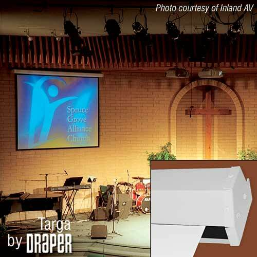 "Details of Draper Targa 45"" x 80"" Motor-In-Roller Electric Screen HDTV (16:9) (Matte White)"
