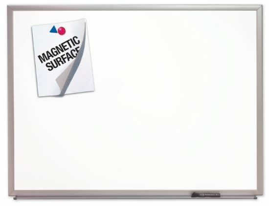 Details of Quartet 8' x 4' Aluminum Frame Dry Erase Board w/ Magnetic Surface