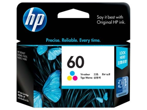Details of HP No. 60 Tri-Color Ink Cartridge