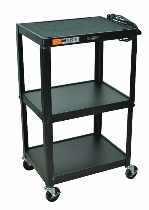 "Details of Luxor 42"" Fixed Height Cart with Electric"