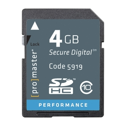 Details of Photographic Research High Speed 5919 4 GB Secure Digital High Capacity (SDHC)