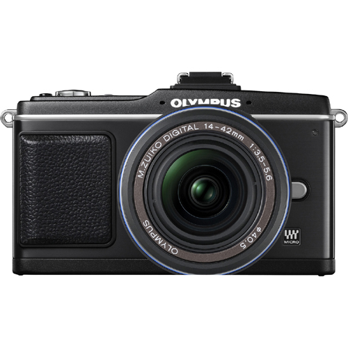 Details of Olympus PEN E-P2 12.3 Megapixel Mirrorless Camera (Body with Lens kit) - 14 mm-42 mm - Black