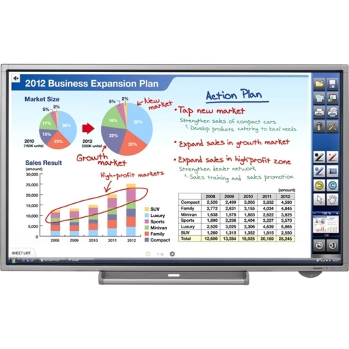 "Details of Sharp PN-L702B 70"" LED LCD Touchscreen Monitor - 16:9 - 6 ms"