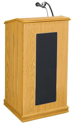 Details of Oklahoma Sound 711 Prestige Floor Lectern w/ Sound - Light Oak