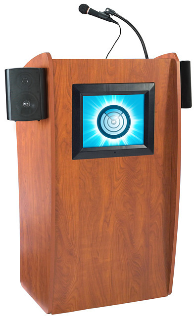 Details of Oklahoma 612-S The Vision Floor Lectern w/ Sound and Digital Display
