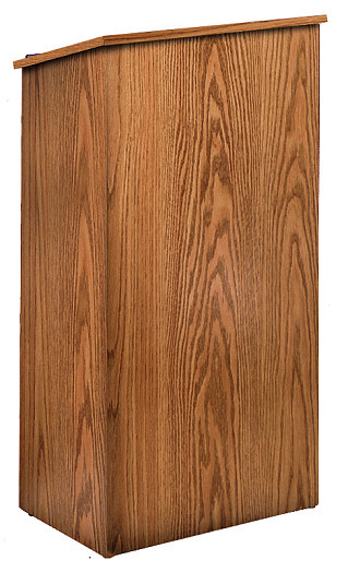 Details of Oklahoma Sound 222 Full Floor Lectern Non Sound - Medium Oak