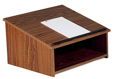 Details of Oklahoma Sound 22 Table Top Lectern Non Sound - Walnut