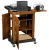 Oklahoma Sound SCL Smart Cart Computer Laptop Lectern Non Sound - Walnut