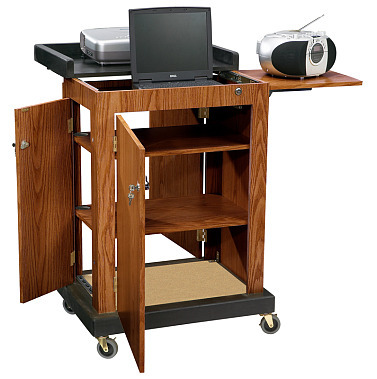Details of Oklahoma Sound SCL Smart Cart Computer Laptop Lectern - Medium Oak