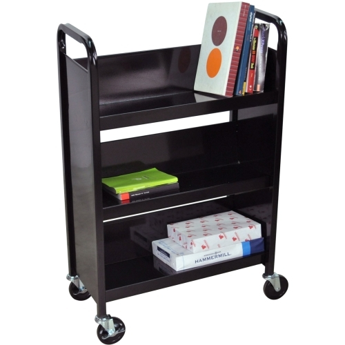 Details of Luxor BT-3S27B  Slant Book Truck - Black