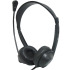 Avid Education AE-18 Lab Headset with Microphone and Vinyl Earpads - Dual 3.5mm Plugs