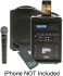 Califone PA419-Q Wireless Portable PA System with Wireless Microphone