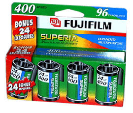 Details of Fuji 35mm ISO400 4 Pack Film