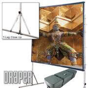Draper Cinefold 69 x 120 Front Projection Screen Matte White - Standard Legs - HDTV Format  image
