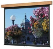 "Da-Lite Designer Manual Hamilton 96"" x 96"" Wall Screen - Heritage Walnut - High Power 96067 image"