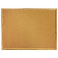 Quartet 8' x 4' Standard Oak Finish Bulletin Board image