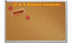 Quartet ECKA406 4' x 6' Natural Cork Bulletin Board with Aluminum Frame image