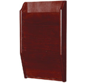H. Wilson WMLW4: 4 Pocket Wide Wall-Mounted Wood Literature Display (Mahogany)  image