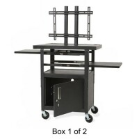 Balt Height Adjustable Flat Panel TV Cart image