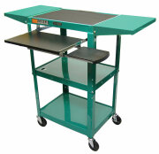 "Luxor Adjustable Compact Steel Computer Workstation 26-42"" with Electric-Green  image"