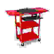 "Luxor Adjustable Compact Steel Computer Workstation 26-42"" with Electric-Red  image"