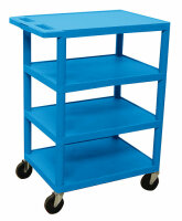 Luxor BC45-BU 4 Shelf Banquet Cart-Blue image