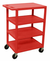 Luxor BC45-RD 4 Shelf Banquet Cart- Red  image