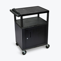 "Luxor 34"" LP Cart with Cabinet and Electric -Black image"