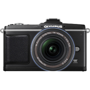 Olympus PEN E-P2 12.3 Megapixel Mirrorless Camera (Body with Lens kit) - 14 mm-42 mm - Black E-PL2 image