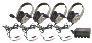 Califone HPK-1034 Four HPK-1034 Titanium Series Headsets with Microphone and System Charger  image