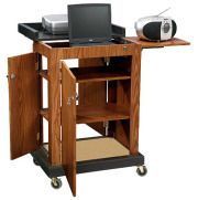 Oklahoma Sound SCL Smart Cart Computer Laptop Lectern - Medium Oak SCL image