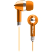 Coby Attitudz CVE53 Earphone Ear buds - Orange  image