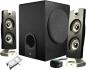 Cyber Acoustics CA-3602 3 Piece Flat Panel Design Subwoofer & Satellite Speaker System