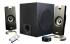 Cyber Acoustics 3 Piece Flat Panel Design Subwoofer & Satellite Speaker System