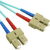Cables To Go Fiber Optic Network Cable - 16.40 ft - Patch Cable - Aqua