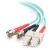 Cables To Go 10Gb Fiber Optic Duplex Patch Cable- ST Male - SC Male  - 6.56ft - Aqua