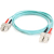 Cables To Go Fiber Optic Duplex Patch Cable  - SC Male Network - SC Male Network - 3.28ft - Aqua