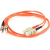 Cables To Go Fiber Optic Duplex Patch Cable - SC Male - ST Male - 3.28ft - Orange